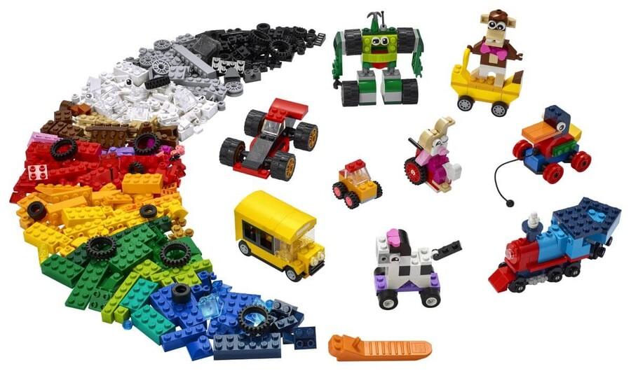 11014 LEGO Classic Yapım Parçaları ve Tekerlekler