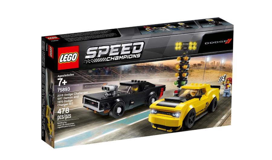 75893 LEGO Speed Champions 2018 Dodge Challenger SRT Demon ve 1970 Dodge Charger R/T