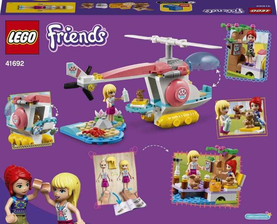 41692 LEGO Friends Veteriner Kliniği Kurtarma Helikopteri
