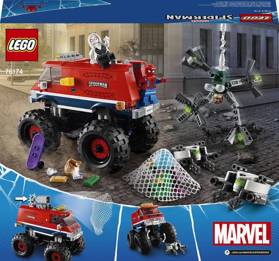 76174 LEGO Marvel Örümcek Adam'ın Canavar Kamyonu Mysterio'ya Karşı