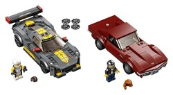 LEGO - 76903 LEGO Speed Champions Chevrolet Corvette C8.R Yarış Arabası ve 1968 Chevrolet Corvette