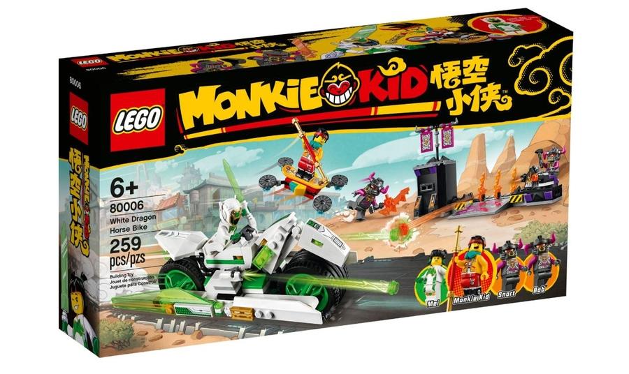 80006 LEGO Monkie Kid Beyaz Ejderha At Motosikleti