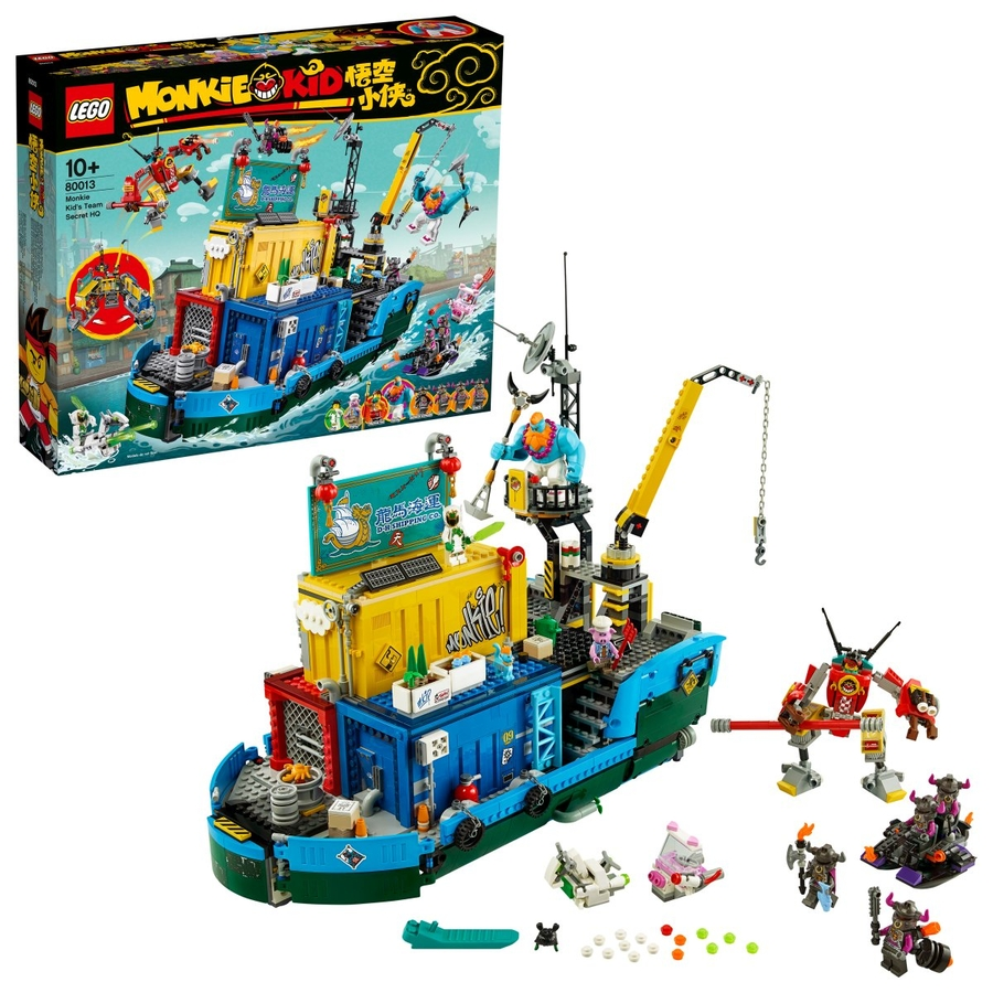 80013 LEGO Monkie Kid Monkie Kid Ekibinin Gizli Karargahı