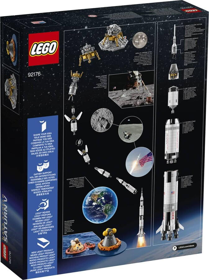 92176 LEGO Ideas LEGO NASA Apollo Saturn V