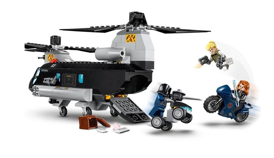 76162 LEGO Super Heroes Black Widow'un Helikopter Takibi
