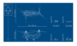 76162 LEGO Super Heroes Black Widow'un Helikopter Takibi - Thumbnail