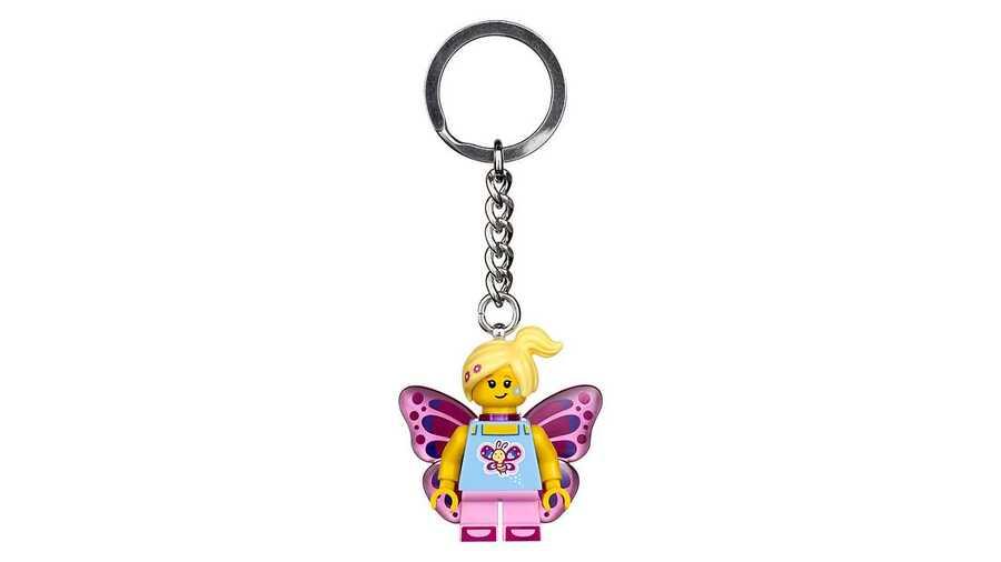 853795 Butterfly Girl Anahtarlık