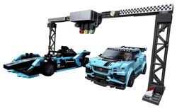 LEGO - 76898 LEGO Speed Champions Formula E Panasonic Jaguar Racing GEN2 araba ve Jaguar I-PACE eTROPHY