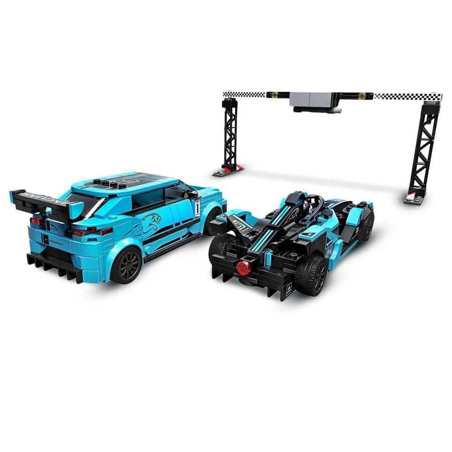76898 LEGO Speed Champions Formula E Panasonic Jaguar Racing GEN2 araba ve Jaguar I-PACE eTROPHY