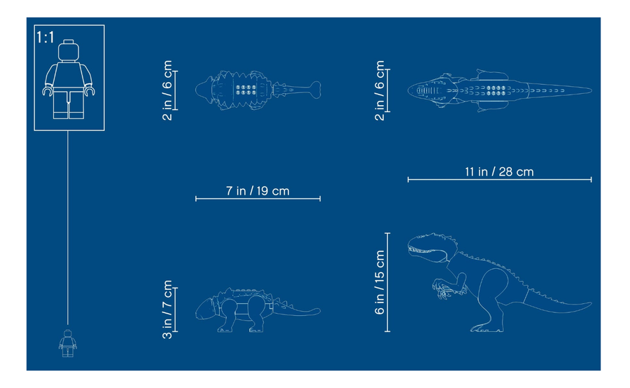 75941 LEGO Jurassic World Indominus Rex Ankylosaurus'a Karşı