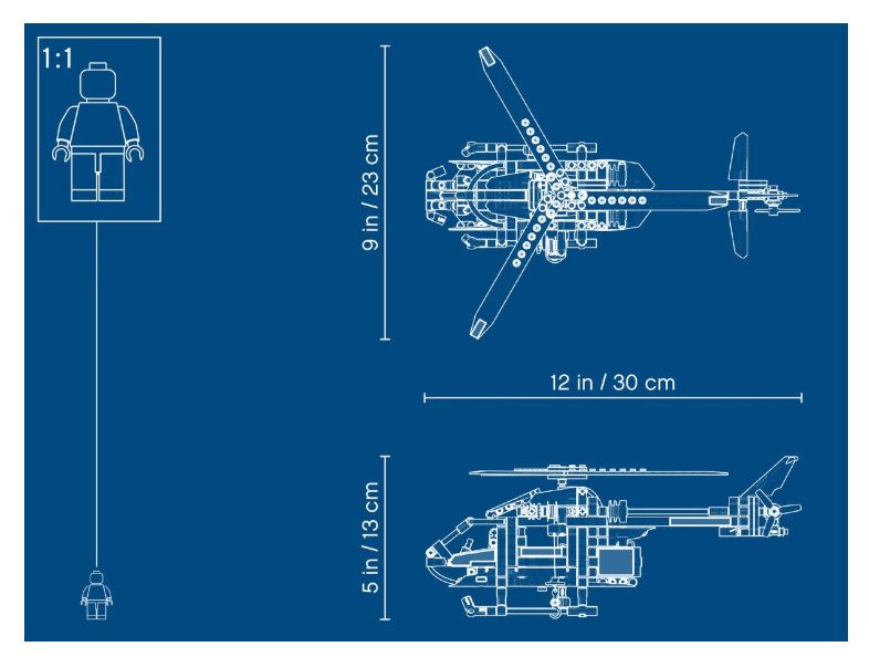 42092 LEGO Technic Kurtarma Helikopteri